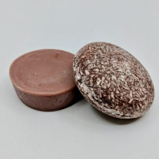 Pink Maverick brand Moroccan Argan oil solid shampoo and conditioner bars.