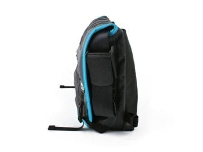 Side view of the Pike messenger bag shows adjustable strap.