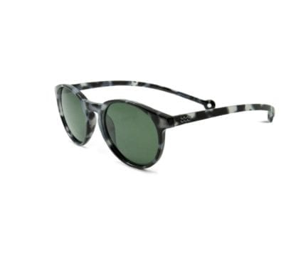 Eco friendly Parafina Isla recycled sunglasses in Cinder Tortoise side view