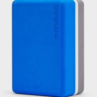 Manduka Foam Yoga Block Be Bold Blue front