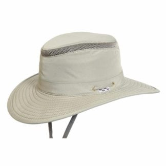 Product display of Conner Hats brand Tarpon Springs Hat made from recycled plastic in khaki